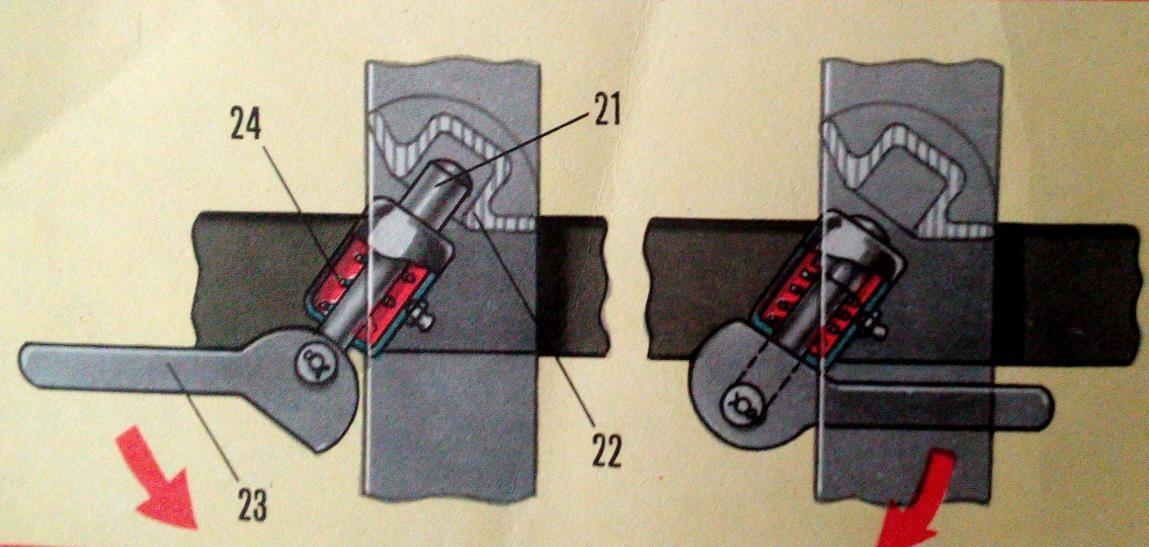 Поворотная тележка: стопор поворотного устройства