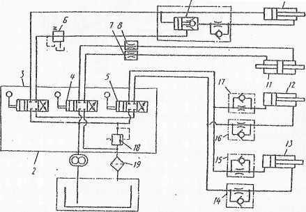 схема гидропривода портального крана
