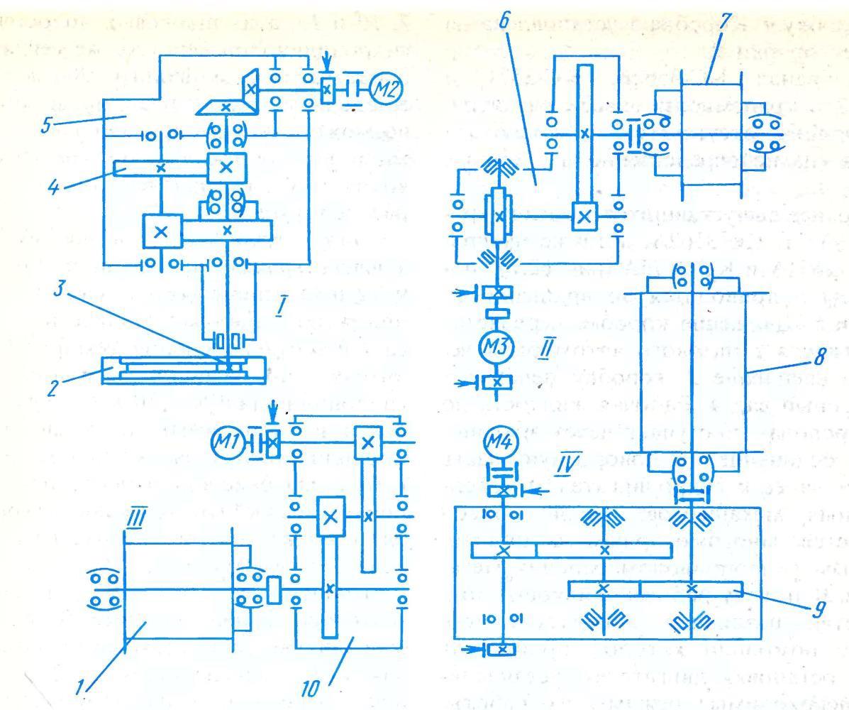 схема привода автокрана КС-4561А