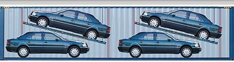 схема расположения автомобилей в контейнере