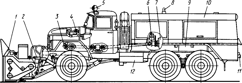 Шнеко-роторный снегоочиститель ДЭ-210