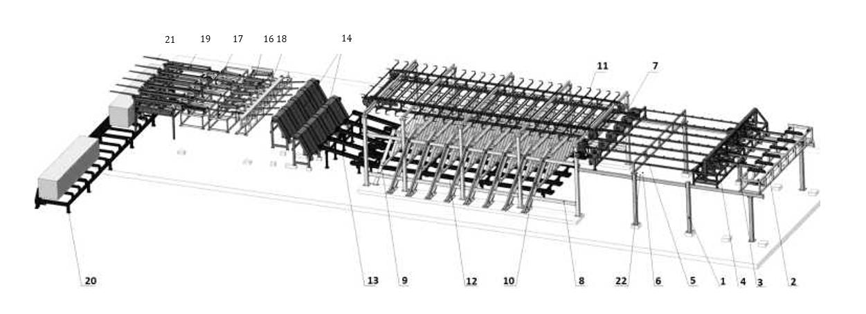 Линия сортирования сырых пиломатериалов