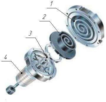 Элементы спирального компрессора