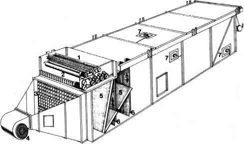 Формирующая машина с пневматическим фракционированием стружки