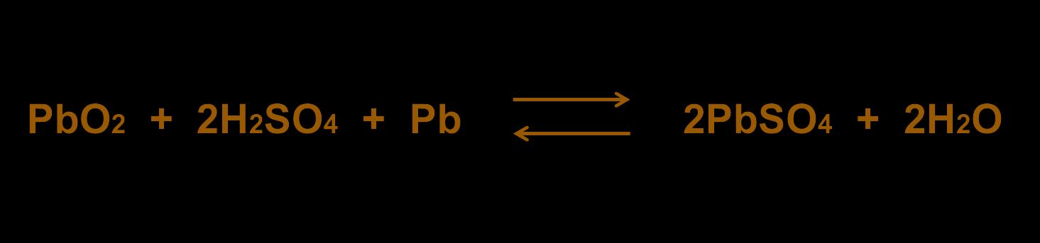 Химическая реакция, протекающая в аккумуляторе