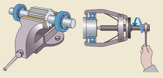 Использование механического съемника