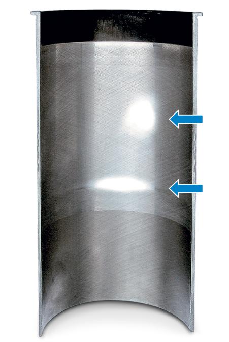 Износ рабочей поверхности из-за перекосов