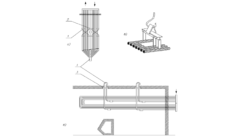Крепление элементов пароперегревателя