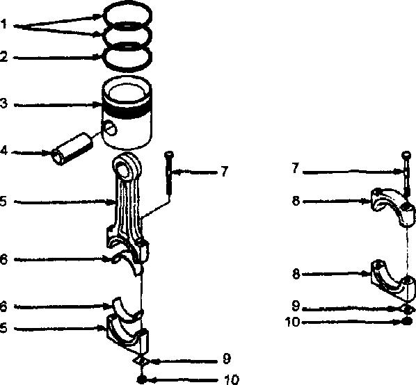 Кривошипно-шатунный механизм и непроходной поршень