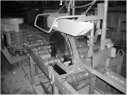 Круглопильный станок с кареткой для бревен ЦДС-1100