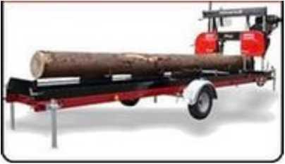 Ленточнопильный станок на прицепе (Wood-mizer)