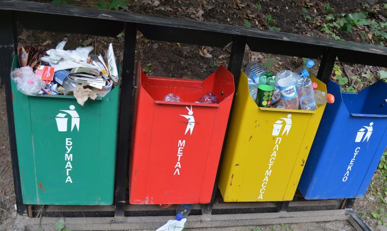 баки для разделения мусора