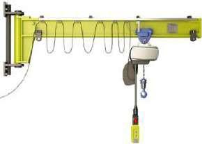 Настенный консольный поворотный кран