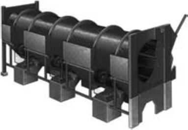 Окорочный барабан, используемый в производстве плит OSB