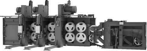 Окорочный станок VK8000HD-Combi-3R с двумя окорочными и одним оцилиндровочным роторами