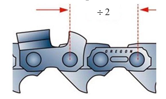 Определение шага цепи