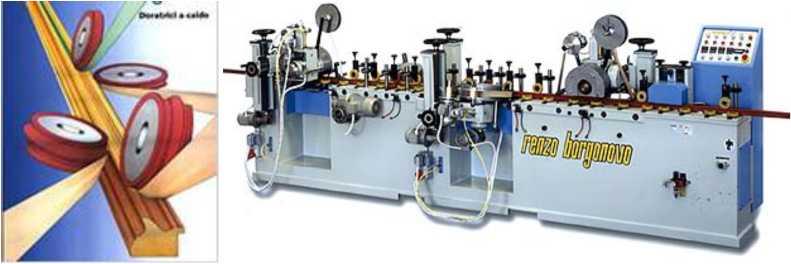 Принцип работы и общий вид окутывающего станка 4Т 96 для погонажных деталей