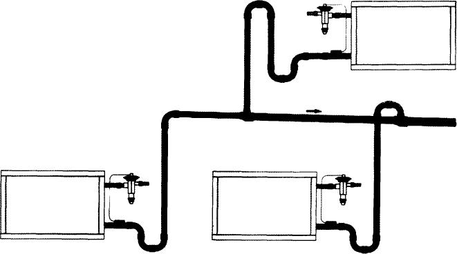 Расположение линий всасывания