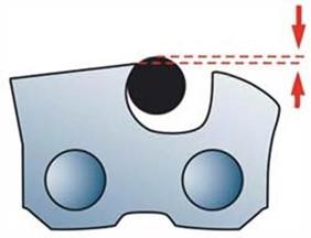 Расположение напильника при заточке верхней грани