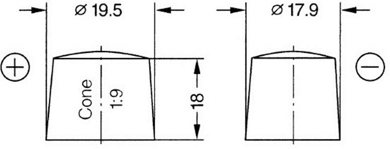 Размеры полюсных выводов