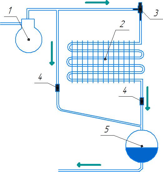 Регулятор давления установленный перед воздушным конденсатором