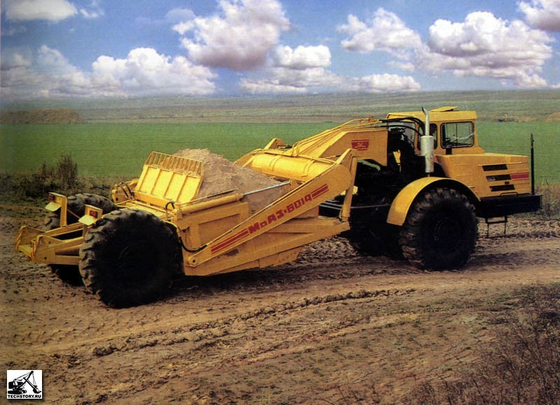 Самоходный скрепер МоАЗ-6014