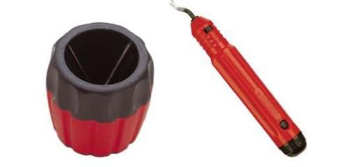 Шабер и фаскосниматель для зачистки кромок труб