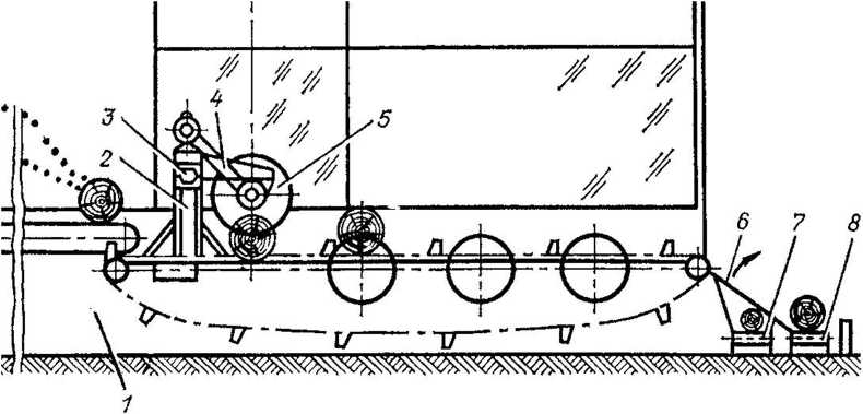 Схема 12-пильного слешера ДЦ-10М