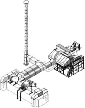 Схема газовой сушилки СРГ-25МЭ с энергоустановкой