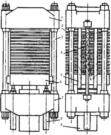 Схема гидравлического пресса: П-714Б