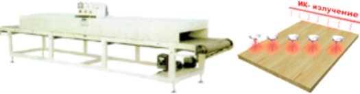 Схема и общий вид инфракрасной сушилки для лакокрасочных покрытий