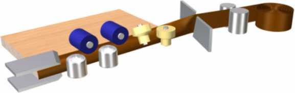 Схема обработки кромки на станке TS-F151