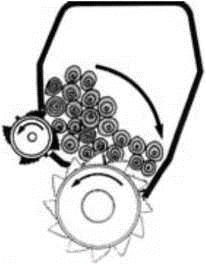 Схема окорочного станка для круглых лесоматериалов