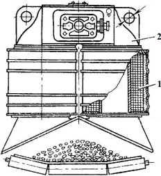 Схема подвесного электромагнитного сепаратора