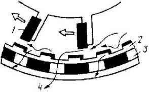 Схема работы дробилки с зубчато-ситовым барабаном