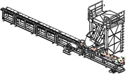 Схема раскряжёвочной линии