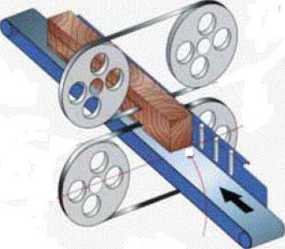 схема спаренного ленточнопильного горизонтального станка НР68