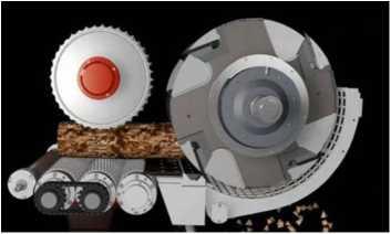 Схема узла резания рубительной машины серии VTH