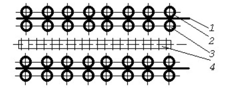 Схема узла роликовой паровой сушилки типа СУР