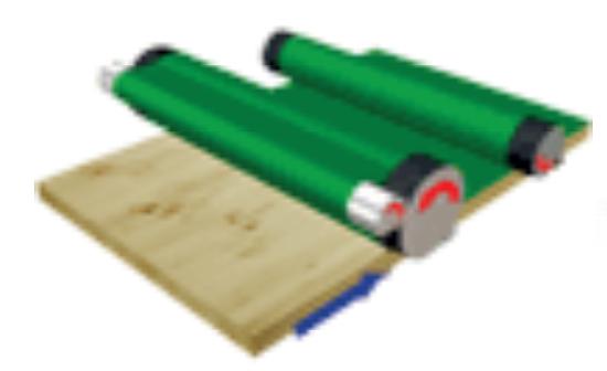 Схема вальцового станка со втирающим вальцом