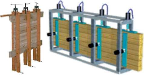 Струбцины (винтовой пресс) для склеивания реечного (мебельного) щита