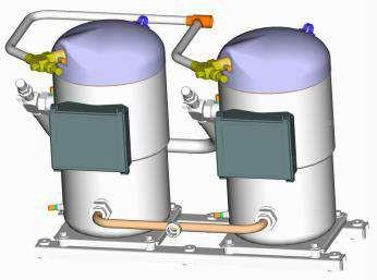 Тандем на базе спиральных компрессоров