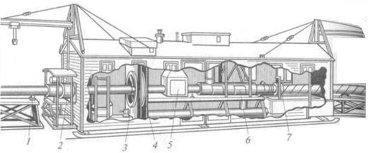 Установка для очистки и изоляции труб и секций трубопроводов