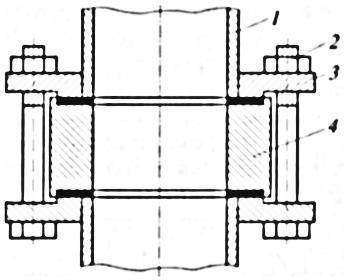 Установка монтажной шайбы вместо измерительной диафрагмы