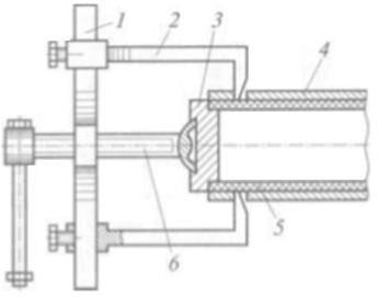 Устройство для извлечения стальной оболочки футерованной трубы