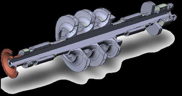 Вал центробежного компрессора с рабочими колесами