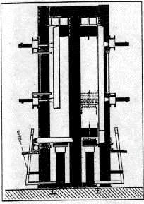 Вертикальный пресс для склеивания строительных деталей