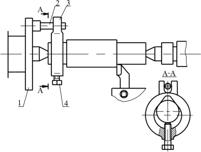 Обработка заготовки в центрах с приводом от поводкового патрона