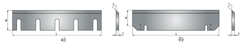 Пример ножей для измельчающего оборудования