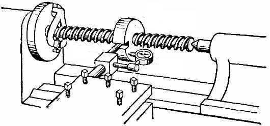 Проверка точности кинематической цепи от шпинделя до суппорта